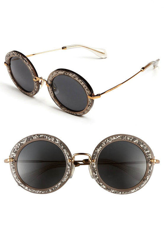 Miu Miu Round Retro Sunglasses
