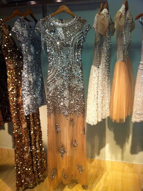 sequins and chiffon