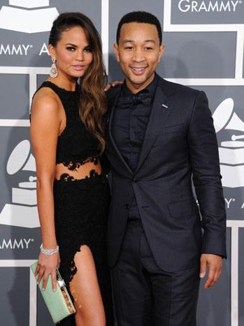 John Legend with fiance Christine Teigen