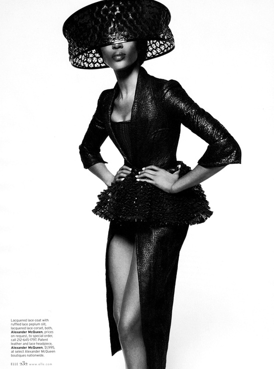 Naomi Campbell for Elle US February 2013