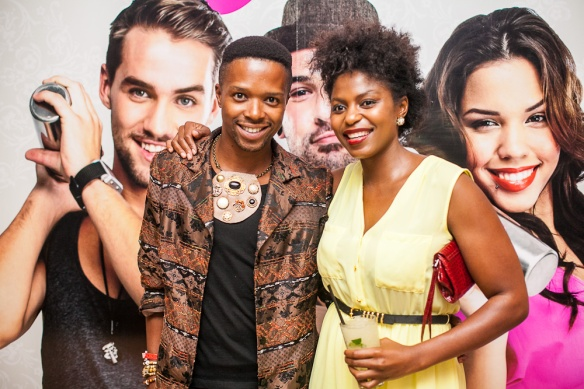 Bongani and I looking fly.  picture by Cosmopolitan's, Paul Ward