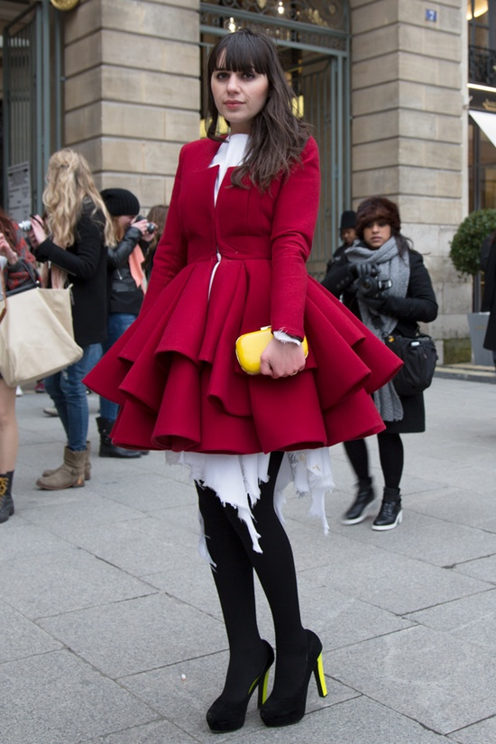 this coat is to die for. pfw 2013  #streetstyle