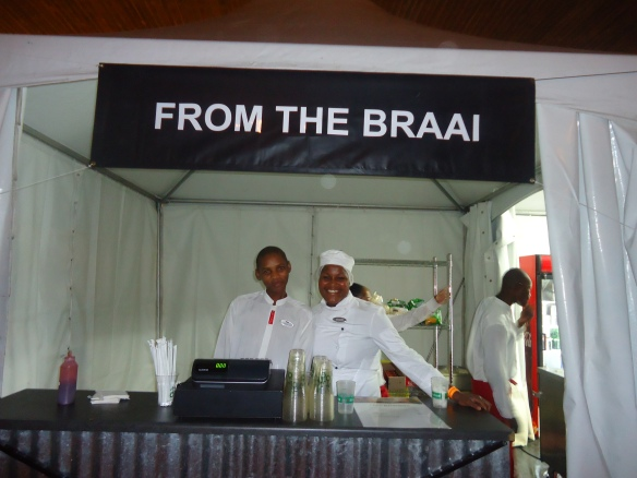 I was impressed by the variety of food  that was on offer.. They catered for SA's diverse nation. we were spoilt, from traditional African cuisine to, Indian food. I had a delicious mutton curry roti on Day 2.
