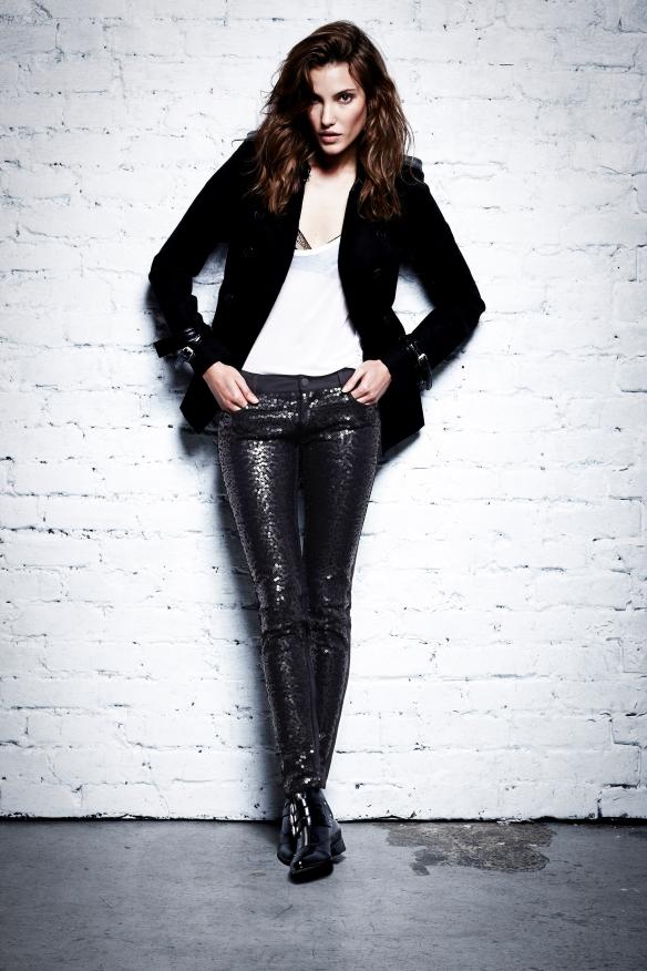 Paige Denim Black Sequins