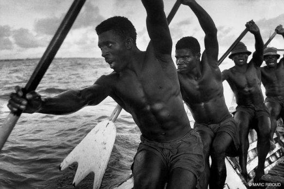 By Marc Riboud: Rowers, Ghana, 1960