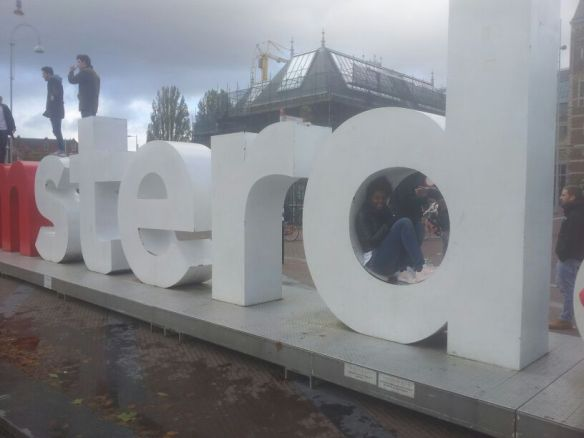 After a visit to the museum don't forget to take a picture with the I love Amsterdam sign.