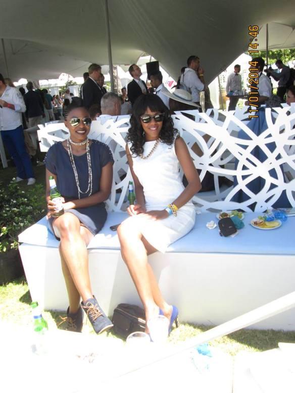 Lerato Samantha Botha and I having a chic LQP moment.