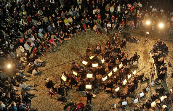 The Cape Philharmonic Orchestra performing in Greenmarket square as part of the Infecting the City 2014. Picture Henk Kruger/Cape Argus