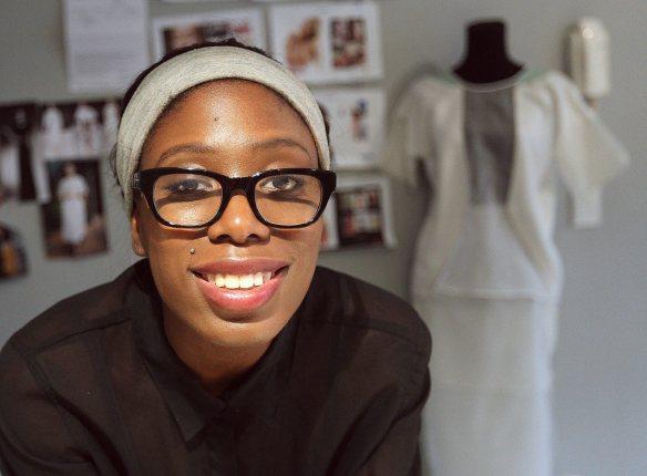 Cape Town fashion designer, Julia M'Poko