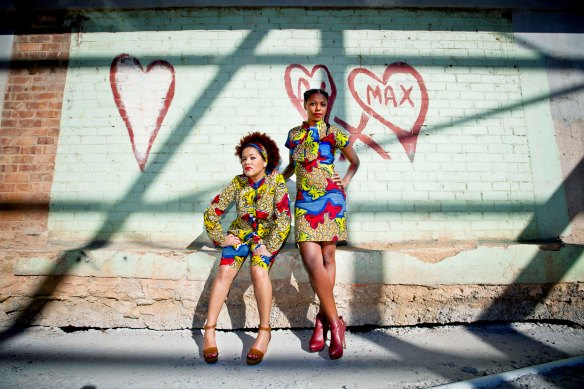 The matching BFFs look. The pussy-bow dress R400. Jacket 400 and shorts R350