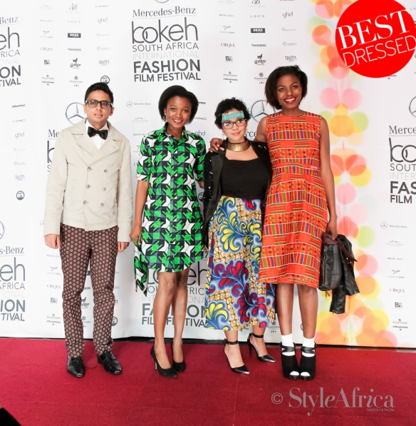 This is how we won the red carpert and Style Africa's best dressed. We were dressed in my label NOYO Closet.  African prints win!