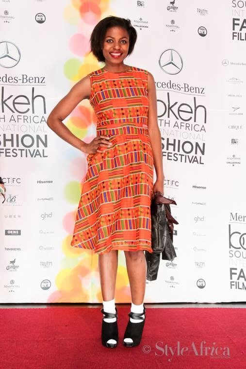 Me at the last year's Bokeh Fashion Film Festival. Wearing  my kente dress by my brand NOYO Closet.