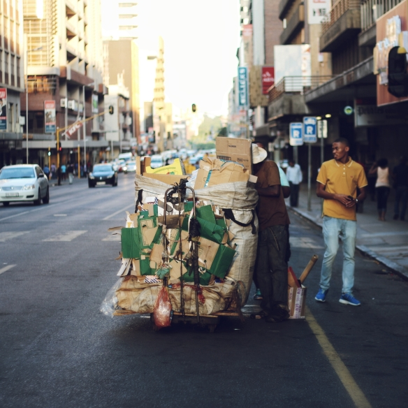 recycler at work Pretoria CBD