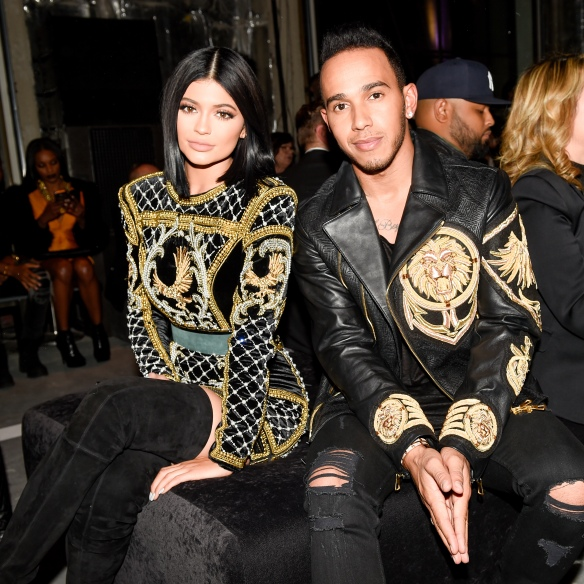 Kylie Jenner and Lewis Hamilton.